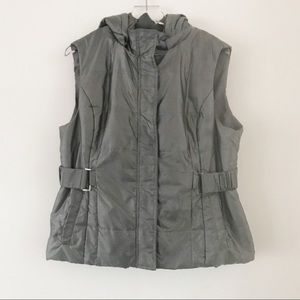 New York and Company Gray Hooded Vest, XL